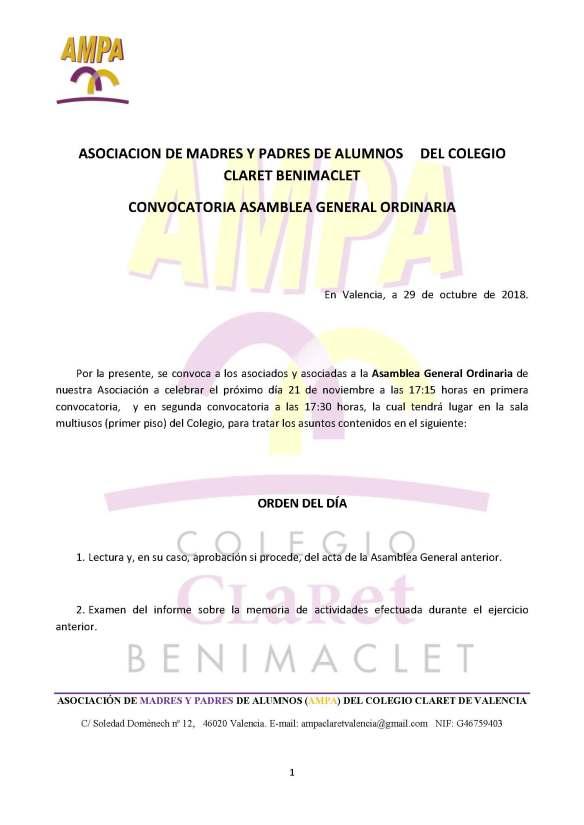 borrador convocatoria Asamblea General Ordinaria noviembre 2017 (ANA VILLALBA ALPERA)_Página_1